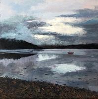 Martina-Krupickova-Landschaft-See-Meer-Landschaft-Sommer-Moderne-Expressionismus-Abstrakter-Expressionismus