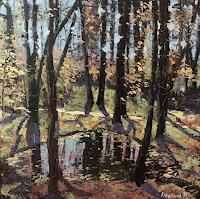 Martina-Krupickova-Landschaft-Fruehling-Landschaft-Ebene-Moderne-Expressionismus-Abstrakter-Expressionismus