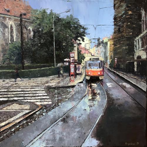 Martina Krupickova, Jidrisska street, Verkehr, Architektur, Gegenwartskunst, Expressionismus