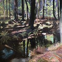 Martina-Krupickova-Landschaft-Sommer-Natur-Wald-Gegenwartskunst-Gegenwartskunst