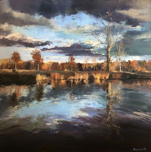Martina Krupickova, Dream Landscape, Landschaft: Herbst, Landschaft: Winter, Gegenwartskunst, Expressionismus