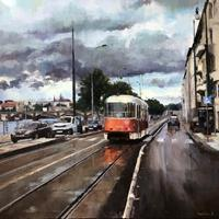 M. Krupickova, Tram No 2 at Vyton in Prague
