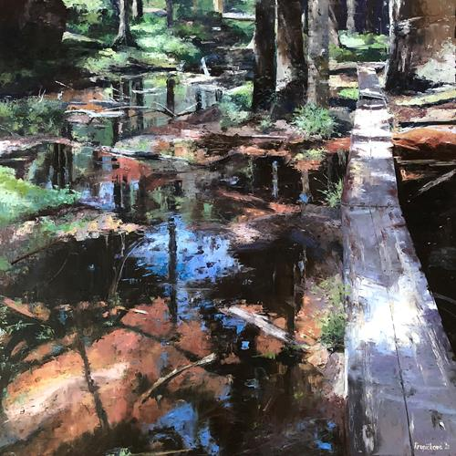 Martina Krupickova, Summer in Broumov Rocks, Landschaft: Sommer, Diverse Landschaften, Gegenwartskunst, Expressionismus