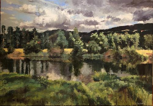 Martina Krupickova, River Berounka, Landschaft: Sommer, Diverse Landschaften, Gegenwartskunst