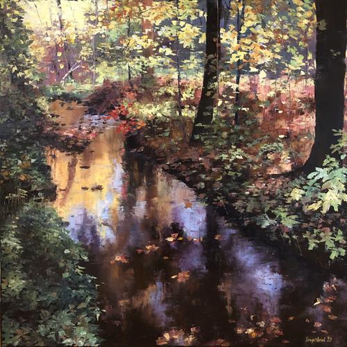 Martina Krupickova, Modranska Ravine, Landschaft: Herbst, Diverse Landschaften, Gegenwartskunst, Expressionismus