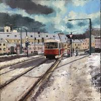 Martina-Krupickova-Diverse-Verkehr-Landschaft-Winter-Gegenwartskunst-Gegenwartskunst