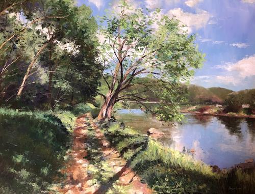 Martina Krupickova, Summertime, Landschaft: Sommer, Diverse Landschaften, Gegenwartskunst, Expressionismus