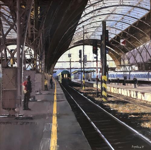 Martina Krupickova, Where to this time?, Verkehr: Bahn, Diverse Verkehr, Gegenwartskunst, Expressionismus