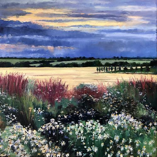 Martina Krupickova, Summer, Landschaft: Sommer, Diverse Landschaften, Gegenwartskunst, Expressionismus
