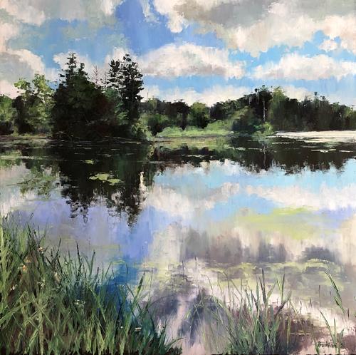 Martina Krupickova, Behind Trebon in summer time, Landschaft: Sommer, Diverse Landschaften, Gegenwartskunst