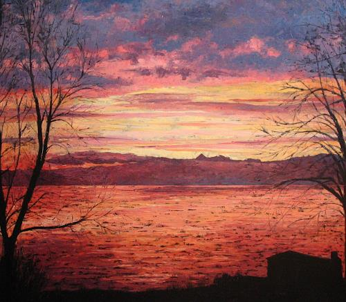 Martina Krupickova, Sunrise over lake Geneva, Romantik: Sonnenaufgang, Diverse Romantik, Neo-Impressionismus, Expressionismus