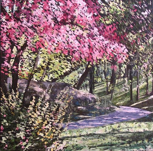 Martina Krupickova, Spring, Diverse Landschaften, Natur: Diverse, Neo-Impressionismus, Expressionismus