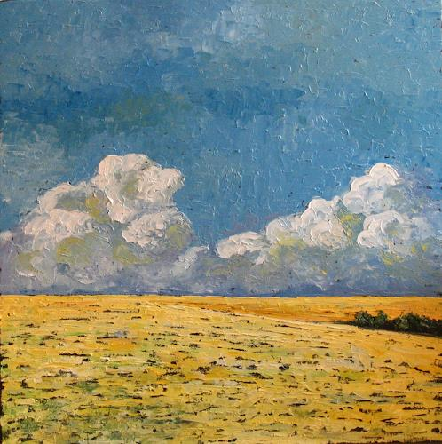 Martina Krupickova, Clouds, Diverse Landschaften, Landschaft: Ebene, Neo-Impressionismus, Expressionismus