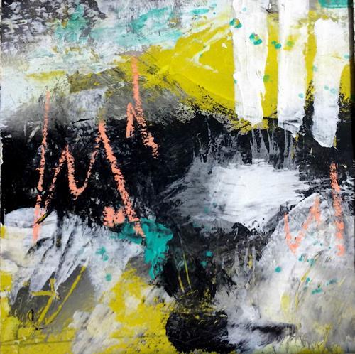 Josef Rabitsch, SERIE 15 x 15 cm / Advantage Life 01, Abstraktes, Fantasie, Abstrakte Kunst