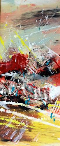 """Josef Rabitsch, WVZ 020/2016 - """"so geht Leidenschaft, Abstraktes, Bewegung, Action Painting"""