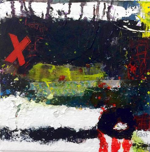 """Josef Rabitsch, 01 Serie """"also dann, Abstraktes, Fantasie, Abstrakte Kunst, Abstrakter Expressionismus"""