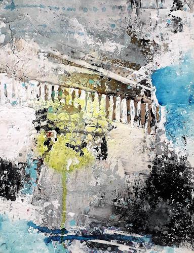 Josef Rabitsch, Vergänglichkeit, Abstraktes, Fantasie, Abstrakte Kunst, Expressionismus