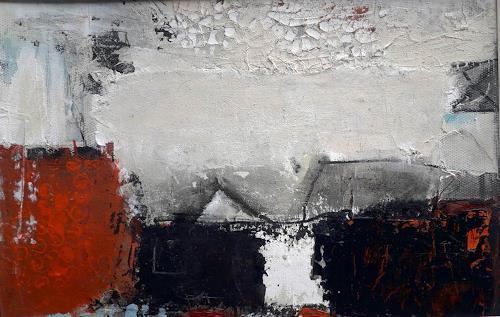Josef Rabitsch, nach dem Sturm, Fantasie, Bewegung, Abstrakte Kunst, Abstrakter Expressionismus