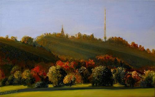 viktor schwarz, Herbstgedicht, Natur: Wald, Landschaft: Herbst, Impressionismus, Moderne
