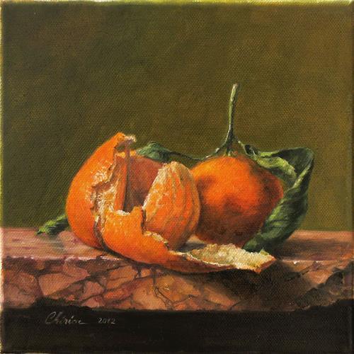 Daniel Chiriac, Clementines hug, Stilleben, Ernte, Realismus, Expressionismus