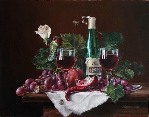 "Daniel Chiriac, Commissioned still life painting ""Passion of Tim, Stilleben, Ernte, Realismus, Expressionismus"