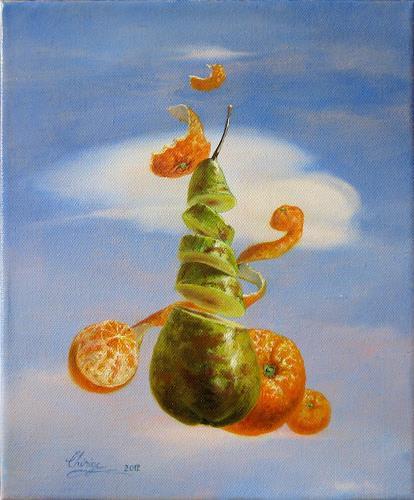 Daniel Chiriac, Pear from heaven, Fantasie, Natur: Luft, Surrealismus