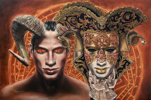 Daniel Chiriac, ET IN ARCADIA EGO, Symbol, Glauben, Surrealismus, Abstrakter Expressionismus