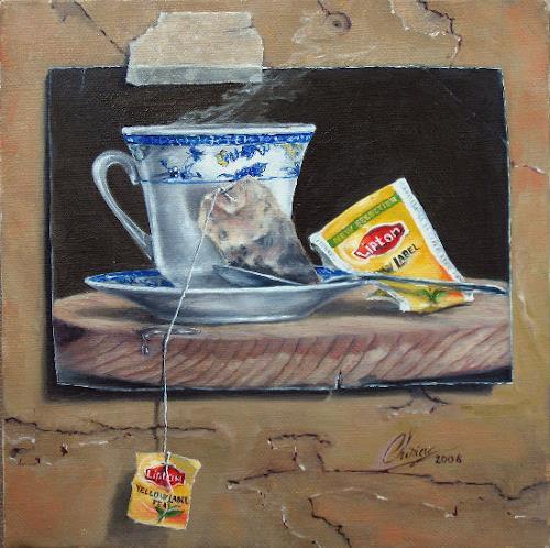 Daniel Chiriac, Five o'clock, Stilleben, Surrealismus, Expressionismus