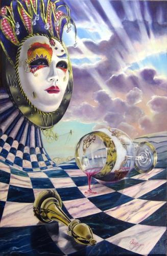 Daniel Chiriac, Facade and masquerade, Karneval, Surrealismus, Expressionismus