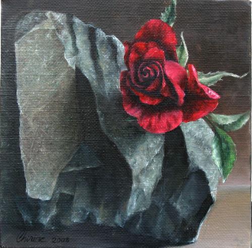 Daniel Chiriac, Stronger then stone, Pflanzen: Blumen, Natur: Gestein, Realismus