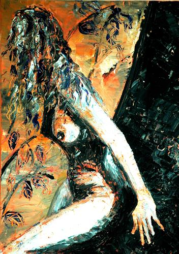 Astrid Strahm, Scheu, Akt/Erotik: Akt Frau, Gegenwartskunst, Abstrakter Expressionismus