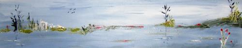 Astrid Strahm, das Moor, Landschaft: See/Meer, Gegenwartskunst