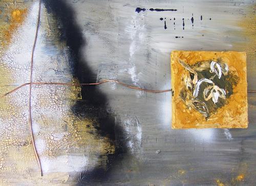 Astrid Strahm, Schneeglocken  II, Pflanzen: Blumen, Abstraktes, Gegenwartskunst
