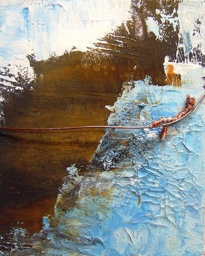Astrid Strahm, Rusty Sky II, Abstraktes, Diverse Gefühle, Gegenwartskunst, Abstrakter Expressionismus