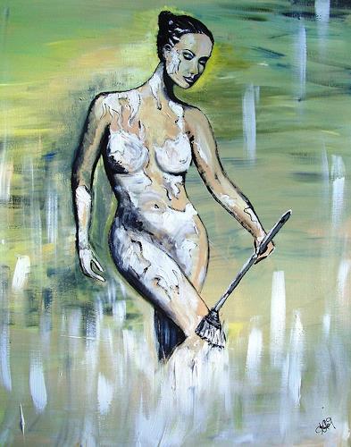 Astrid Strahm, Bodypainting, Akt/Erotik: Akt Frau, Gegenwartskunst