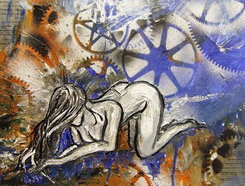 Astrid Strahm, Mechanismen, Akt/Erotik: Akt Frau, Diverse Gefühle, Gegenwartskunst