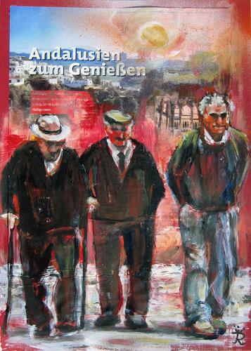 Renée König, Andalusien zum Genießen, Menschen: Gruppe, Gesellschaft, Moderne, Abstrakter Expressionismus
