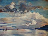 Renee-Koenig-Landschaft-See-Meer-Diverse-Romantik-Moderne-Impressionismus-Neo-Impressionismus