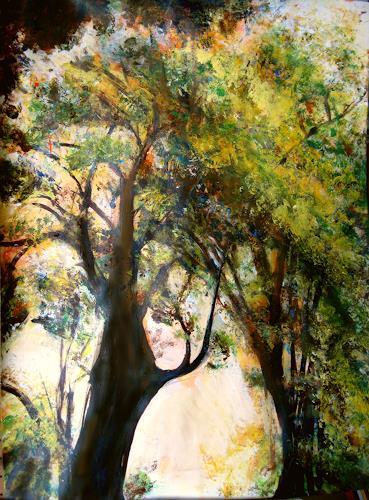 Renée König, Baumriese, Pflanzen: Bäume, Natur: Wald, expressiver Realismus, Expressionismus