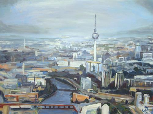 Renée König, Vogelflug über Berlin, Architektur, Diverse Bauten, Postimpressionismus