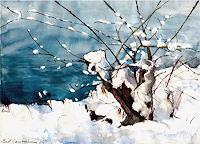 Renee-Koenig-Landschaft-Winter-Gefuehle-Geborgenheit-Gegenwartskunst-Gegenwartskunst