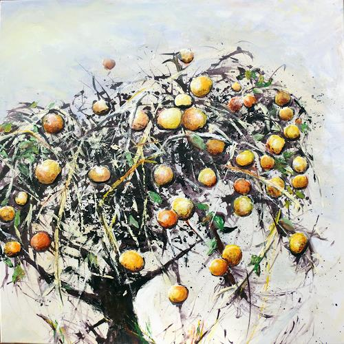Renée König, Ein vergessener Apfelbaum, Ernte, Pflanzen: Bäume, Neo-Expressionismus, Abstrakter Expressionismus