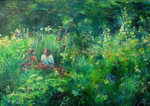 Renée König, In Liebermanns Garten, Wohnen: Garten, Pflanzen: Blumen, Postimpressionismus, Expressionismus