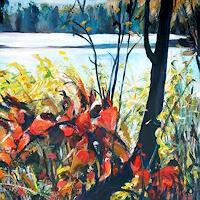 Renee-Koenig-Landschaft-Herbst-Pflanzen-Baeume-Gegenwartskunst-Gegenwartskunst