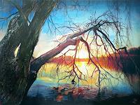 Renee-Koenig-Landschaft-Pflanzen-Baeume-Moderne-Fotorealismus