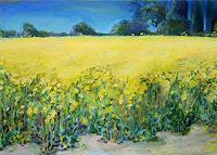 Renee-Koenig-Landschaft-Ebene-Wohnen-Dorf-Moderne-Impressionismus-Postimpressionismus