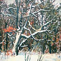 Renee-Koenig-Landschaft-Winter-Pflanzen-Baeume-Gegenwartskunst-Gegenwartskunst