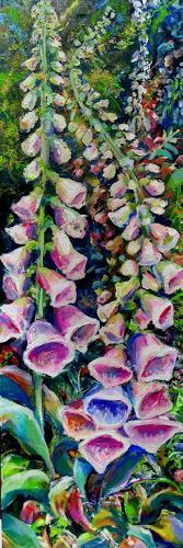 Renée König, Fingerhutblüte, Landschaft: Sommer, Pflanzen: Blumen, Gegenwartskunst