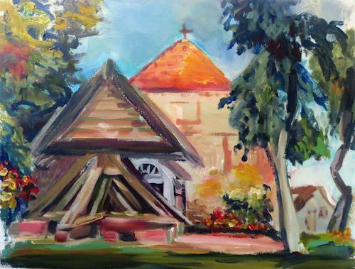 Renée König, Kirchenensemble Liepe (Usedom), Architektur, Wohnen: Dorf, Postimpressionismus