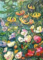 R. König, Im Blumenbeet